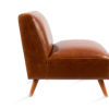 Brown Leather Side Chair Rentals Corporate Lounge Cozy Event Rentals Classic A La Crate Rentals Madison WI