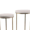 White Gold Side Table SET Modern Event Rentals Madison WI A La Crate Vintage Rentals