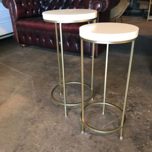 White Gold Side Table SET