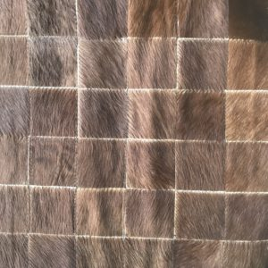 Brown Patchwork Cowhide Rug Rental Lounge Tradeshow Design A La Crate Rentals Wisconsin Event Boutique