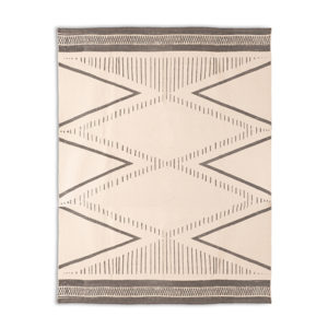 Black White Geo Modern Rug Rental Madison WI A La Crate Rentals