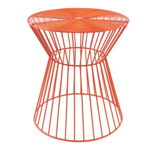 Orange Wire Coated Side Table Modern Rentals A La Crate Rentals Madison Wisconsin