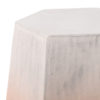 Peach Fade Ceramic Side Table Geometric Modern Rental Madison WI A La Crate Rentals Event Rentals