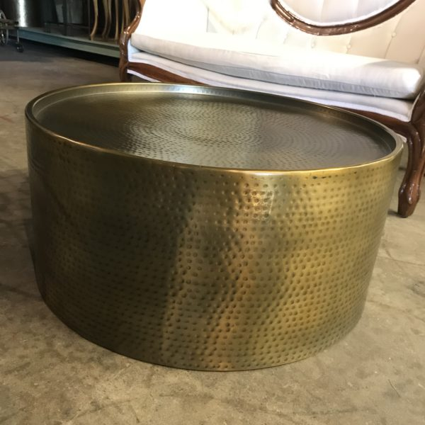 Hammered brass coffee table boutique rentals madison wi a la crate rentals lounge furniture rentals