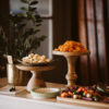 Wood Stand Cake Plate Rental Madison WI A La Crate Rentals