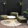 Round Outdoor Woven Rug A La Crate Rentals Madison Wisconsin