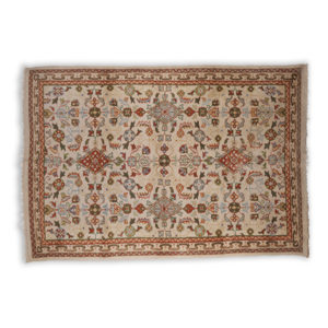Rug rental orange, brown, green