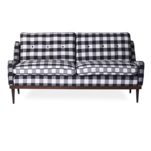 Black and white loveseat cozy rental