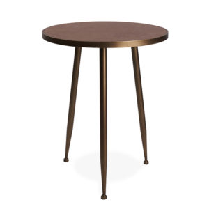 Side table rentals, brass tones