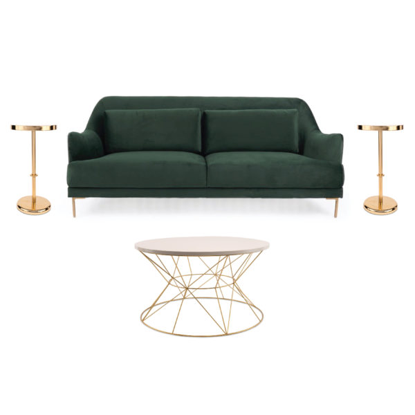 Evergreen Curated Collection Package Lounge Velvet WI