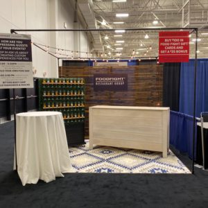 Backdrop rentals for Corporate booth display.