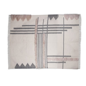 Boho rug rentals, abstract shapes