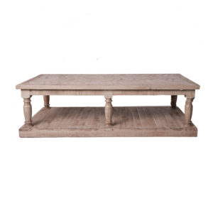 Herringbone pattern coffee table rental