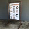 Sign, copper stand, customize your Welcome sign!
