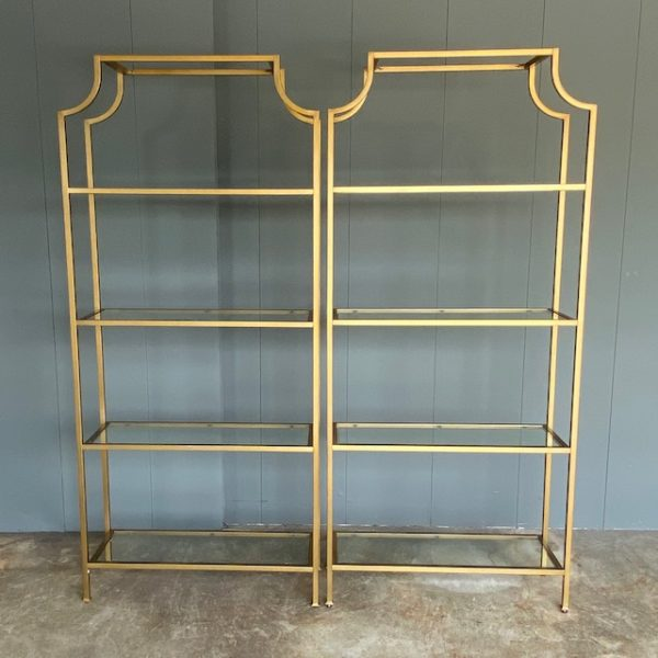 Book case rentals, glass and metal.