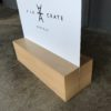 Wood stand for your custom signage