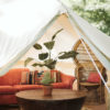 Glamping curated collection tucked carefully into nature