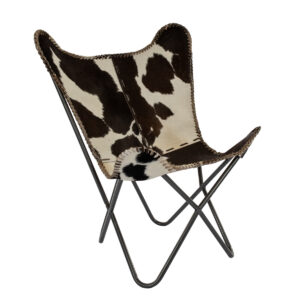 Outdoor cowhide chair rental