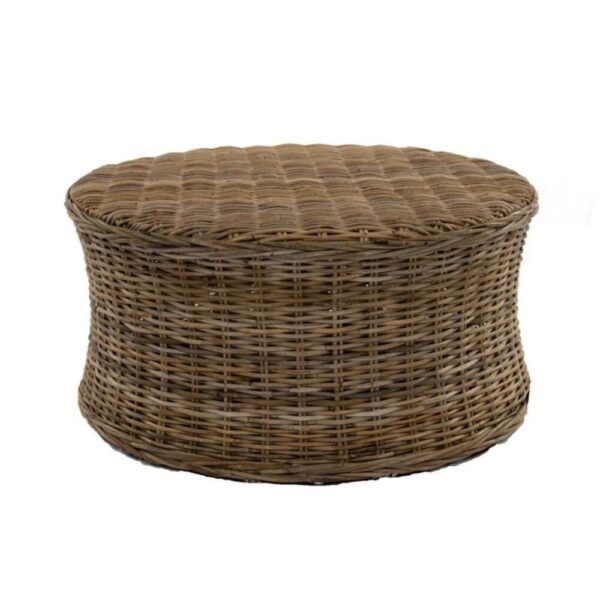 Wicker coffee table rental boho event rentals wedding