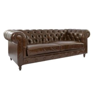 Leather chesterfield sofa rental tufted furniture wisconsin madison