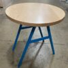 Maple topped cafe table with powder coated legs
